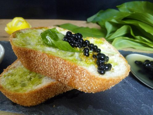 Cremige Kohlrabi-Ingwer Suppe mit knusprigen Quinoa-Walnuss Talern.