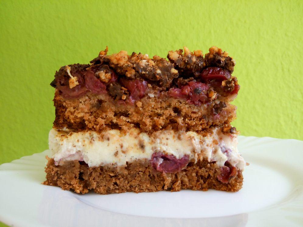 Glutenfreie vegane Donauwellen Torte